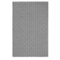 Indo Hand-woven Veria Black/ White Geometric Flat-weave Area Rug (3' x 5')
