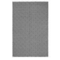 Handmade Indo Veria Black/ White Contemporary Geometric Area Rug - 4' x 6' (India)