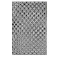 Indo Hand-woven Veria White/ Black Geometric Flat-weave Area Rug - 6' x 9'