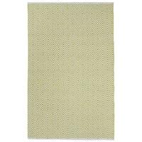 Handmade Indo Veria Off-white/ Green Geometric Flat-weave Area Rug - 6' x 9' (India)