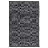 Handmade Indo Zen Black/ Bright White Contemporary Geometric Flat-weave Area Rug (India)