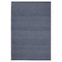 Handmade Indo Zen Dark Blue/ Bright White Contemporary Geometric Area Rug - 3' x 5' (India)