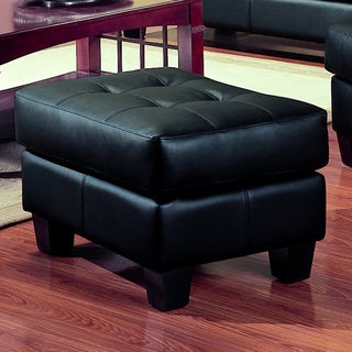 Coaster Company Samuel Tufted Bonded Leather Ottoman