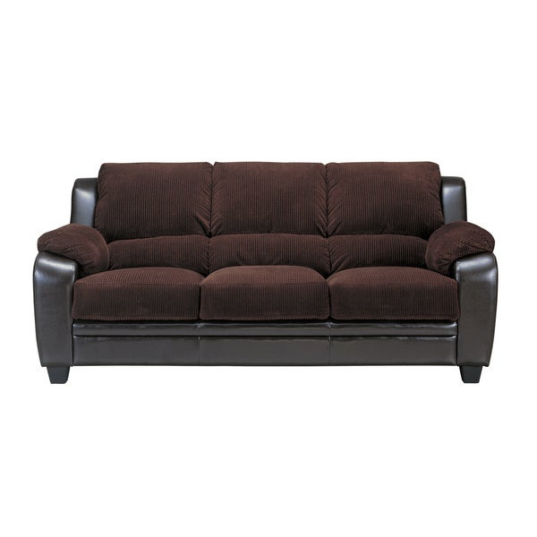 Coaster Company Monika Chocolate Two-tone Stationary Sofa