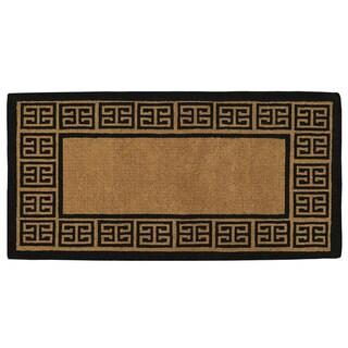 Grecian Extra-thick Natural Coir Doormat (3' x 6')