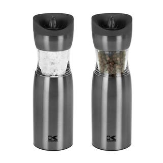 Kalorik Gunmetal Gravity Salt and Pepper Grinder Set|https://ak1.ostkcdn.com/images/products/8851843/P16080396.jpg?impolicy=medium