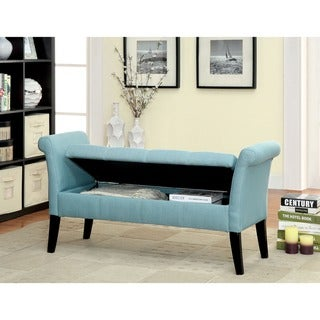 Furniture of America Dohshey Fabric Storage Accent Bench