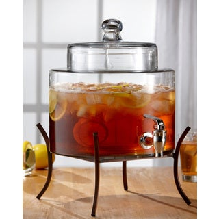 Glass 2-gallon Beverage Dispenser