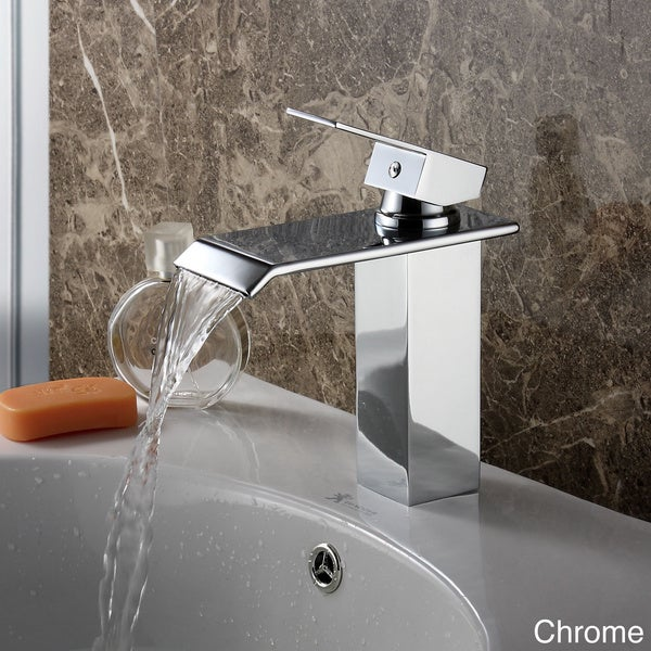 7 Faucet Finishes For Fabulous Bathrooms: Elite 8815 Single-lever Waterfall Bathroom Sink Faucet