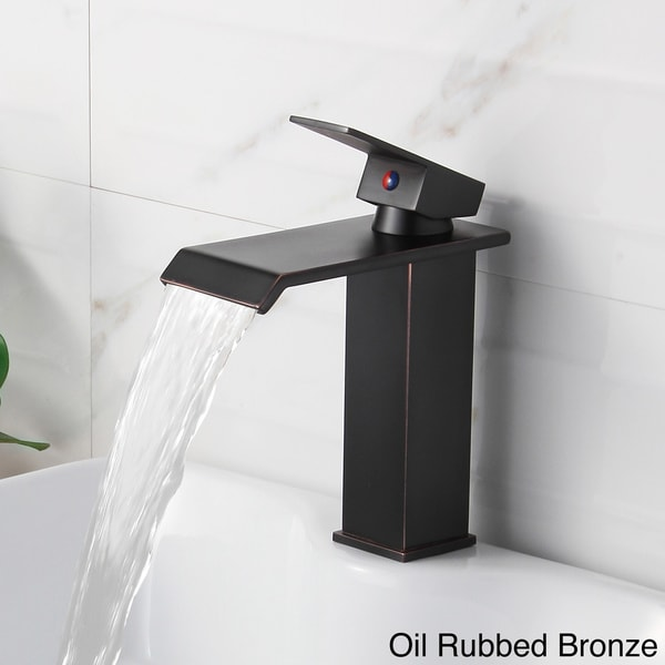 Elite Brass Single-lever Waterfall Bathroom Sink Faucet