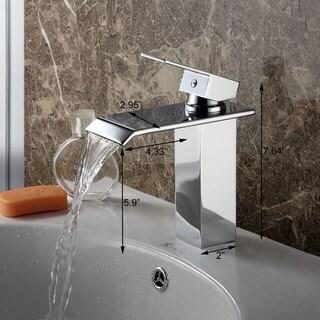 Elite Brass Single-lever Waterfall Bathroom Sink Faucet