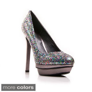 Gomax Women's 'Disco Diva 01X' Glitter Metallic Platform Pumps