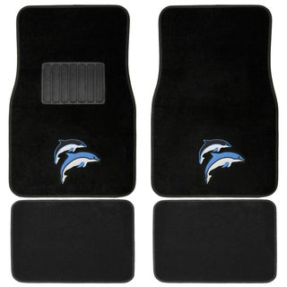 Oxgord Blue/ Purple Dolphin 4-piece Vehicle Floor Mat Set