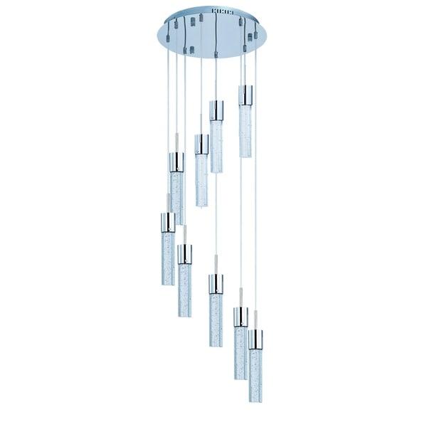 Maxim Fizz IV 9-light Chrome LED Pendant