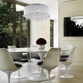 Maxim Spiral 10-light Chrome/ Crystal Pendant