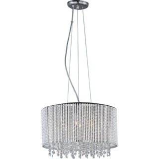 Maxim Spiral 7-light Chrome/ Crystal Pendant