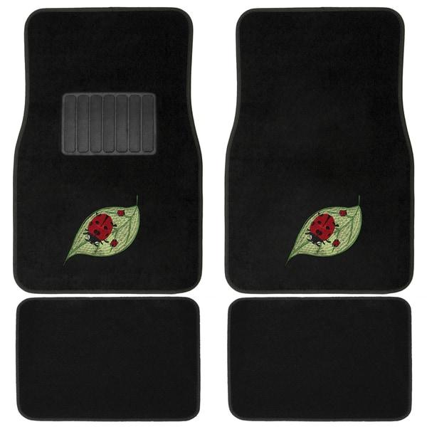 green car floor mats. Oxgord Ladybug Red/ Green 4-piece Vehicle Floor Mat Set Green Car Floor Mats
