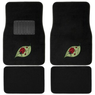 Oxgord Ladybug Red/ Green 4-piece Vehicle Floor Mat Set