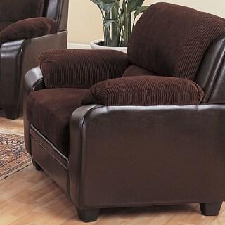 Monika Chocolate Brown Arm Chair