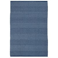 Fab Habitat Indoor Outdoor Zen Blue/ White Contemporary Diamond Area Rug (8' x 10') - 8' x 10'