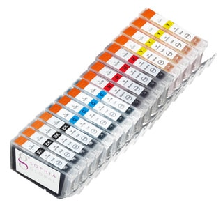 Sophia Global Compatible Ink Cartridge Replacement for Canon CLI-8 (4 Small Black, 4 Cyan, 4 Magenta, and 4 Yellow)