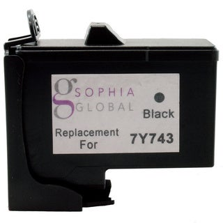 Sophia Global Remanufactured Ink Cartridge Replacement for Dell 7Y743 (1 Black)