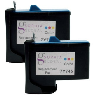 Sophia Global Remanufactured Ink Cartridge Replacement for Dell 7Y743 (2 Black)