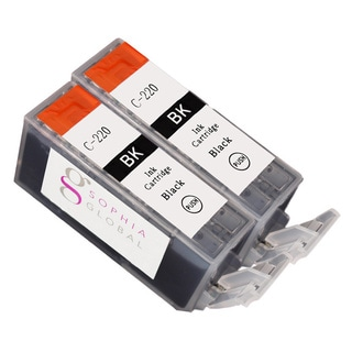 Sophia Global Compatible Ink Cartridge Replacement for Canon PGI-220 (2 Large Black)