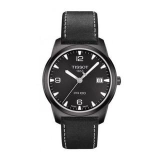 Tissot Men's T0494103605700 'Espace Montres' Black Dial Watch