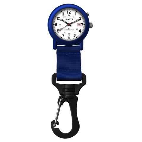 Dakota 'Light EL Backpacker' Blue Carabiner Clip Watch