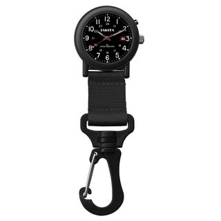 Dakota 'Light EL Backpacker' Black Carabiner Clip Watch