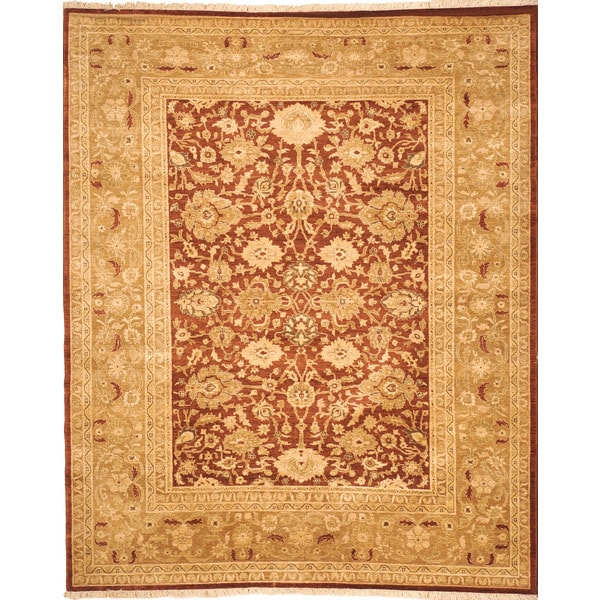 Safavieh Hand-knotted Peshawar Vegetable Dye Rust/ Lemon Wool Rug - 8' x 10'