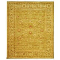 Safavieh Hand-knotted Peshawar Vegetable Dye Olive/ Lemon Wool Rug - 8' x 10'