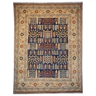 Safavieh Hand-knotted Samarkand Navy/ Light Gold Wool Rug (8' x 10')