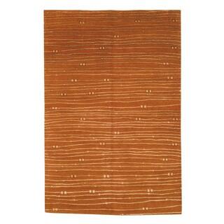 Safavieh Hand-knotted Nepalese Rust Wool/ Silk Area Rug (9' x 12')