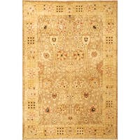Safavieh Hand-knotted Peshawar Vegetable Dye Multi/ Gold Wool Rug - 9' x 12'