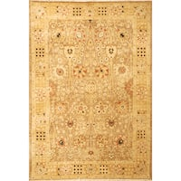 Safavieh Hand-knotted Peshawar Vegetable Dye Multi/ Gold Wool Rug - 9' x 12'