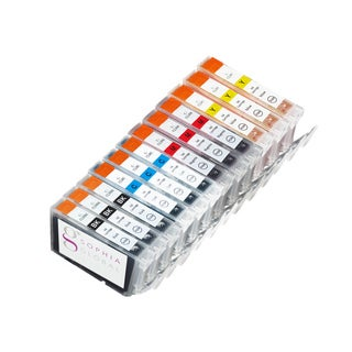 Sophia Global Compatible Ink Cartridge Replacement for Canon CLI-8 (3 Small Black, 3 Cyan, 3 Magenta, and 3 Yellow)