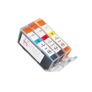 Sophia Global Compatible Ink Cartridge Replacement for Canon CLI-221 (1 Cyan, 1 Magenta, and 1 Yellow)