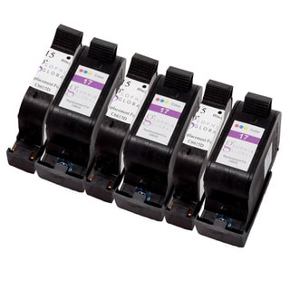 Sophia Global Remanufactured Ink Cartridge Replacement for HP 15 and HP 17 (3 Black, 3 Color)
