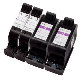 Sophia Global Remanufactured Ink Cartridge Replacement for HP 15 and HP 17 (2 Black, 2 Color)