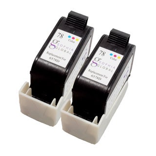 Sophia Global Remanufactured Ink Cartridge Replacement for HP 78 (2 Color)