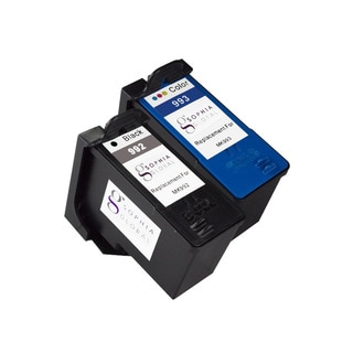 Sophia Global Remanufactured Ink Cartridge Replacement for Dell MK992 and MK993 Series 9 (1 Black, 1 Color)