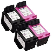 Sophia Global Remanufactured Ink Cartridge Replacement for HP 901XL and HP 901 (2 Black, 2 Color)