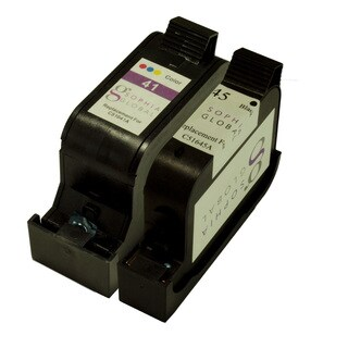 Sophia Global Remanufactured Ink Cartridge Replacement for HP 45 and HP 41 (1 Black, 1 Color)
