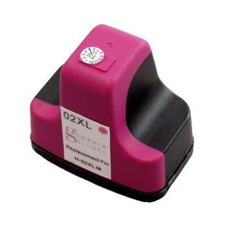 Sophia Global Remanufactured Ink Cartridge Replacement for HP 02XL (1 Magenta)