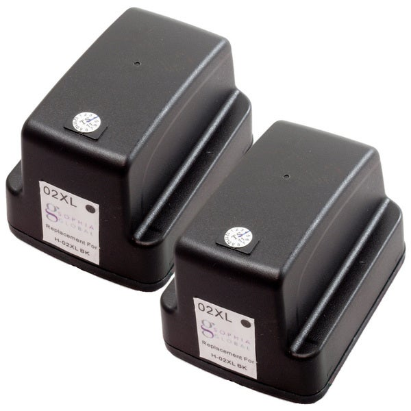 Sophia Global Remanufactured Ink Cartridge Replacement for HP 02XL (2 Black)
