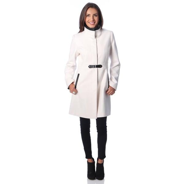 Via Spiga Women's Wool Blend Walker Coat - Free Shipping Today ...
