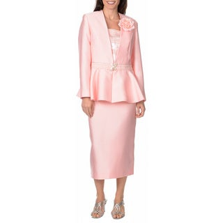 Giovanna Signature Women's 3-piece Peplum Skirt Set