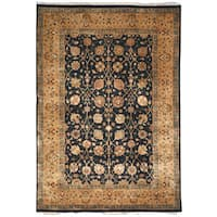 Safavieh Hand-knotted Ganges River Black/ Gold Wool Rug (9' x 12')